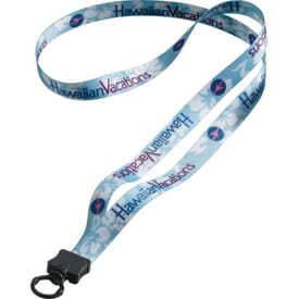 "1/2"" Dye-Sublimated Polyester Lanyard W/O-Ring Attachment"