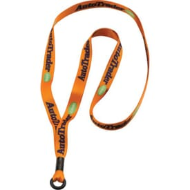 "1/2"" Dye-Sublimated Polyester Lanyard With Metal Crimp And Rubber O-Ring Attachment"