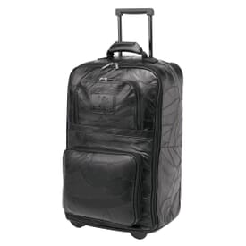 "Leather 22"" Rolling Carry-On"