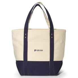 Seaside Cotton Zippered Tote