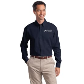 Port Authority® Long Sleeve Value Poplin Shirt- Men's
