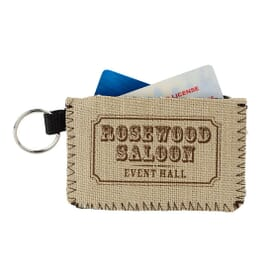 Burlap-Neoprene Card Guard