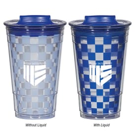 16 oz Color Changing Checker Tumbler