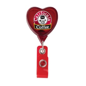 Jumbo Heart Badge Reel- Chroma