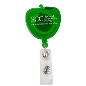 Apple Badge Reel W/Alligator Clip- Chroma