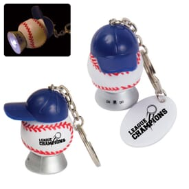 Light Up Baseball & Baseball Hat Keytag