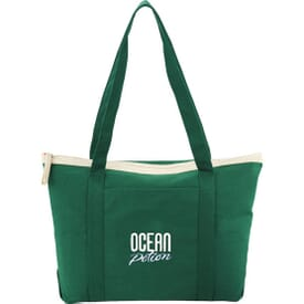 Color Pop Zippered Cotton Boat Tote (Closeout)