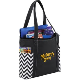 Geometric Zippered Business Tote
