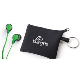 Taffy Microphone Flat Wire Earbuds