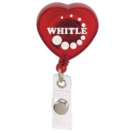 Caring Heart Retractable Badge Holder