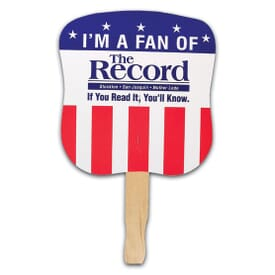 Patriotic Hand Fan- Stock Stars & Stripes