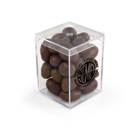 "3"" Geo Container- Chocolate Covered Almonds"
