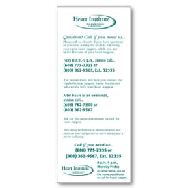 "3 1/2"" X 8 1/2"" Econo Card With No Perforations"
