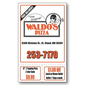 "3 1/2"" X 5 3/4"" Econo Card With 2 Perforations"