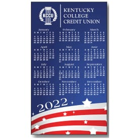 "4"" X 7"" Usa Process Color Magnetic Calendar"