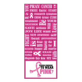"3 1/2"" X 8"" Breast Cancer Awareness Words Plus™ Business Card"