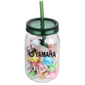 25 Oz. Mason Jars With Salt Water Taffy