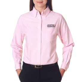 Ultraclub® Ladies' Classic Wrinkle-Free Long-Sleeve Oxford