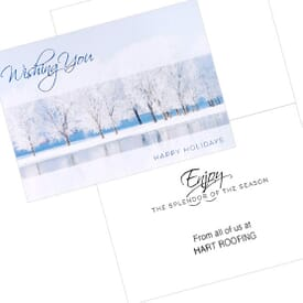 Icy Winter Pond Greeting Card