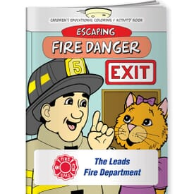 Fire, Escaping Fire Danger- Coloring Book