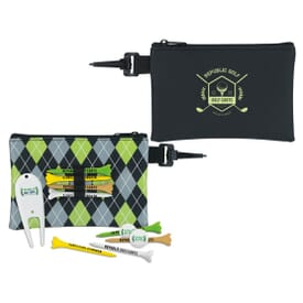 "3 1/4"" Pattern Golf Pouch Tee Kit"