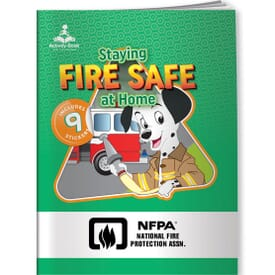 Activity Book&Stickers - Staying Fire Safe At Home