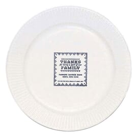 "7"" Round White Paper Plate"