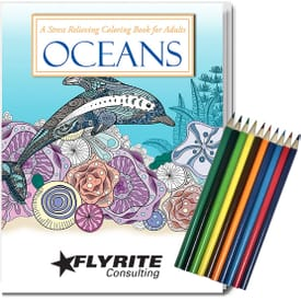 Adult Coloring Book Relax Pack- Oceans