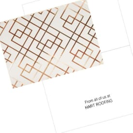 Lattice Pattern Note Card
