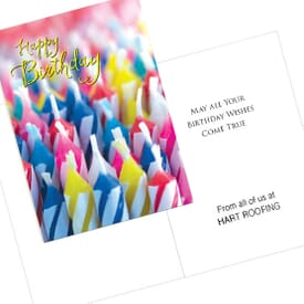 Candle Collage Card