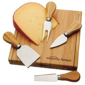 ON SALE-Bamboo Cheese Set