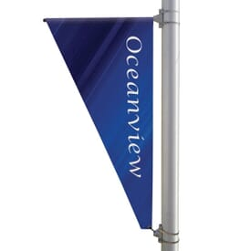 "30"" X 60"" Double-Sided Triangular Boulevard Banner"