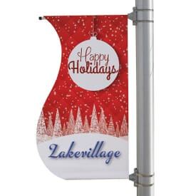 "24"" X 48"" Double-Sided S-Shaped Boulevard Banner"