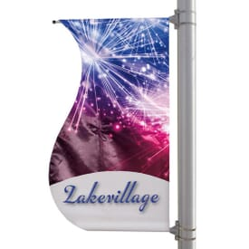 "30"" X 60"" Double-Sided S-Shaped Boulevard Banner"