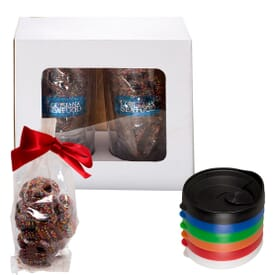 Avalon Tumblers Set with Chocolate Covered Pretzels